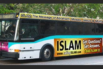 Bus ads urge Floridians to learn about Islam