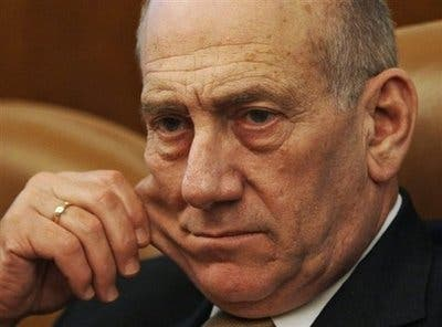 Olmert appeals to Gazans to stop Hamas fire