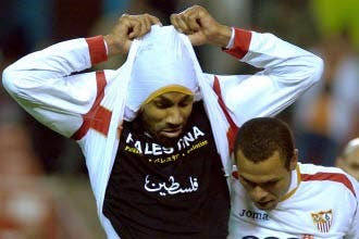 Muslim footballer fined for supporting Gaza