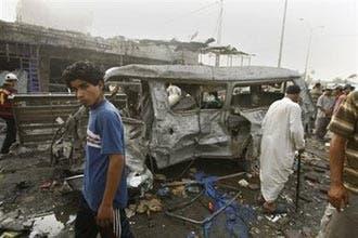Car bomb rocks busy market in southern Iraq