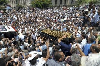 Mourners angry over murder of German Egyptian