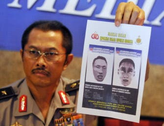 Indonesia releases sketches of hotel bombers