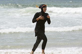 Muslim in burkini banned from France pool