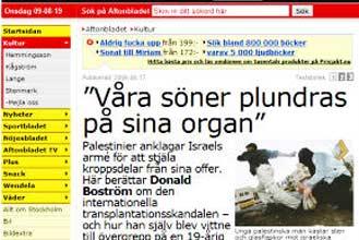 Sweden defends press freedom amid Israeli furor
