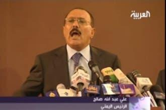 صالح يؤكد استمرار الحرب على الحوثيين ويدعو لجبهة مواجهة وطنية