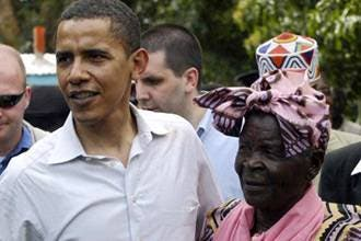 Obama's grandfather's wife performs Hajj