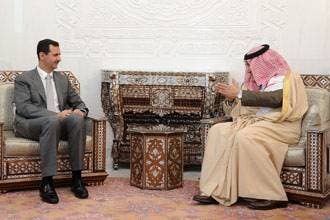 Saud's FM holds talks in Syria, Egypt
