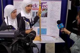Palestinian girls win Intel Science Fair award