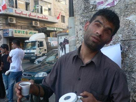 Palestinian radio presenter sells coffee in Ramallah
