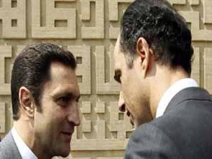 Alaa, Gamal Mubarak argued during dad's final speech