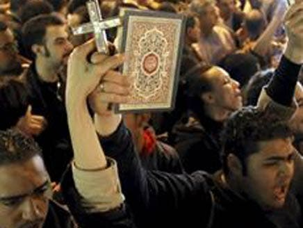 Egyptians protest against sectarianism