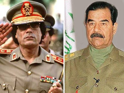 Ominous deja vu as Saddam's victims watch Gaddafi