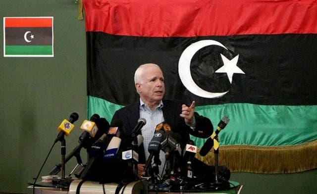 McCain in Libya, no mission creep