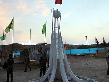 """إيران تشيّد مجسماً لدوار """"اللؤلؤة"""" البحريني في جزيرة """"أبوموسى"""" الإماراتية"""