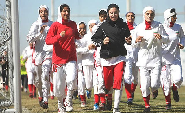 Iranian women insist on wearing traditional hijab in soccer match against Jordan. 'No!' says FIFA, and Iran loses