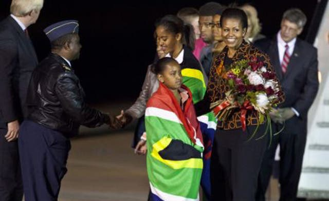Michelle Obama arrives in Africa, her second solo trip abroad as US First Lady
