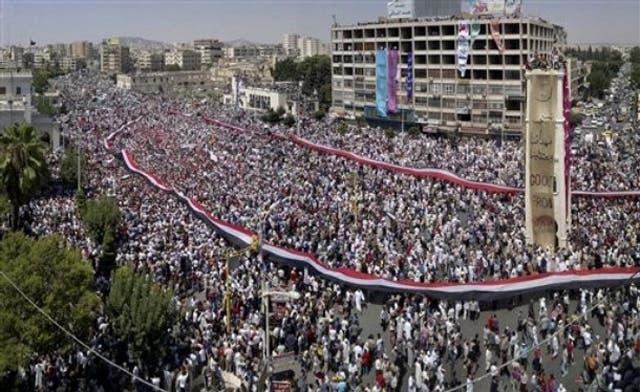 Over 1.2 million Syrians in Hama and Deir Ezzor urge Assad exit. By Mustapha Ajbaili