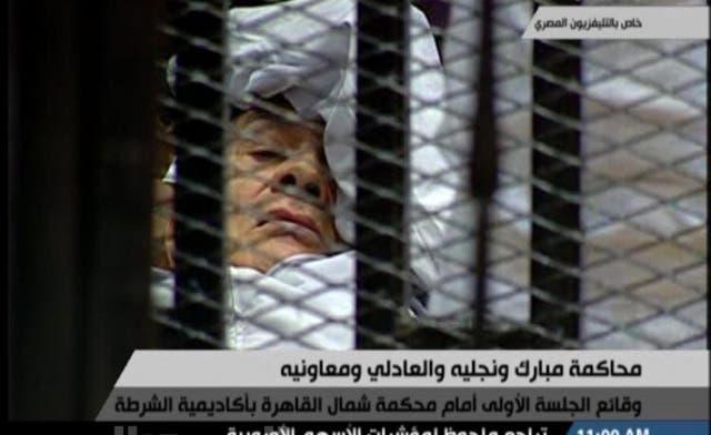 Egypt press gasps at images of fallen 'pharaoh'
