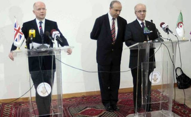 Algerian and British ministers discuss exiled Qaddafi family