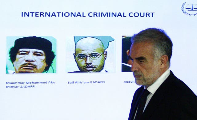 ICC's Ocampo says 'substantial evidence' against Qaddafi son