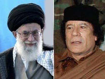 """الكشف عن رسالة شفوية من خامنئي للقذافي دعاه فيها """"للصمود أمام الغرب"""""""