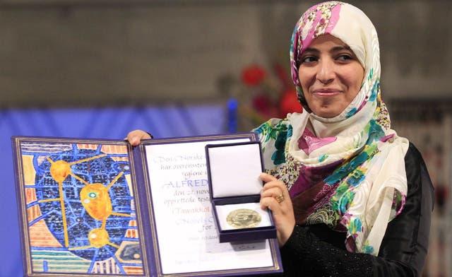Nobel Peace Prize winner blasts lack of support for Yemen uprising