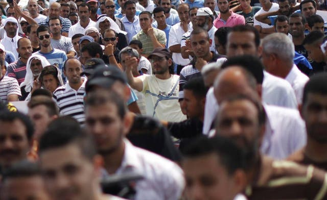 Israel Bedouin protest outside Netanyahu's office over relocation plan