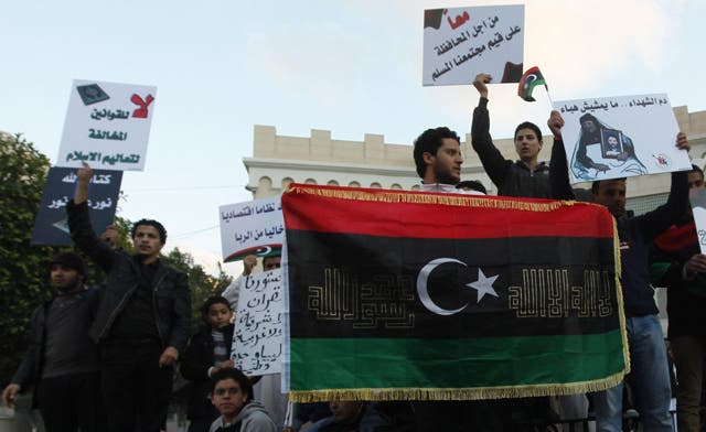 Libyan protesters storm government headquarters in Benghazi