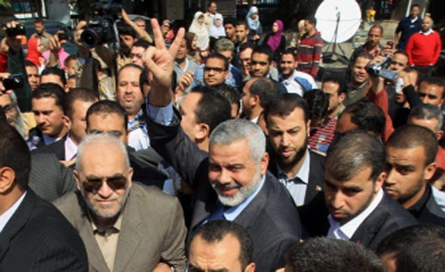 Gaza's Hamas PM salutes 'heroic' Syrians, voices support for protests