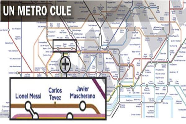 إطلاق اسم ميسي على إحدى محطات مترو لندن