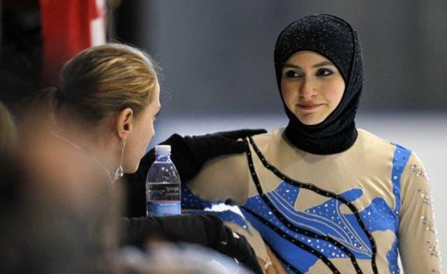 Zahra Lari, the 'Ice Princess' in the hijab
