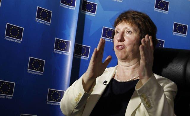 EU's Ashton briefs Israeli prime minister on Iran talks