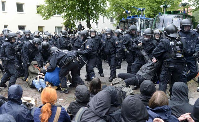 Dozens of German police hurt at neo-Nazi rally in Hamburg