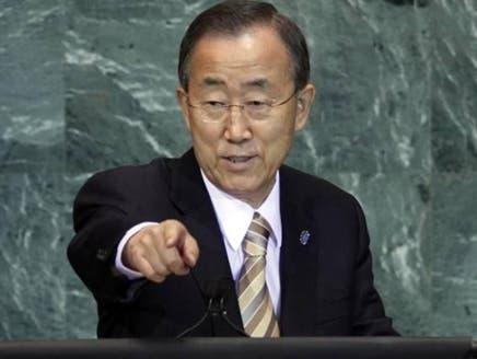 سلامتی کونسل کی خاموشی اسدی فوج کے لئے قتل عام کا لائسنس ہے: بان کی مون