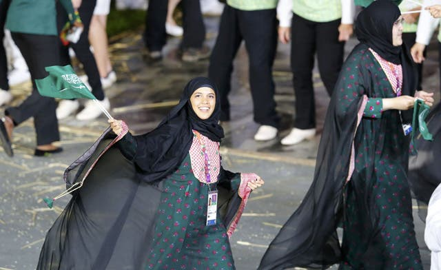 Saudi women join Olympics opening ceremony for first time