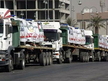 السعودية تطلق الجسر البري الأول لإغاثة شعب سوريا