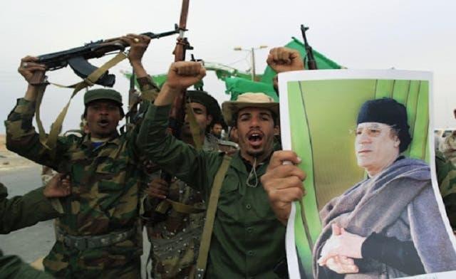 More than 100 tanks seized from pro-Qaddafi militia in Libya