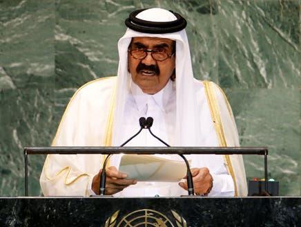 أمير قطر يدعو إلى تدخل عسكري عربي في سوريا