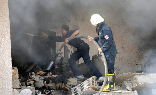 Scores killed as blast hits Palestine branch of Syrian intel in Damascus