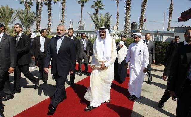Qatar's Emir crosses into Hamas-run Gaza on landmark visit