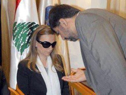 زوجة اللواء وسام الحسن تتجاهل تعزية سفير إيران