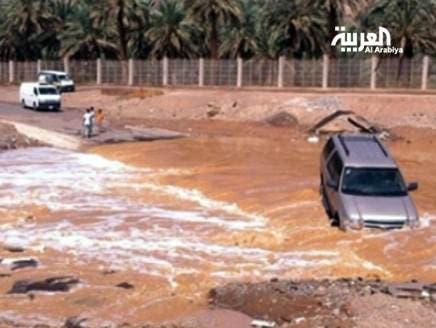 سيول جارفة تقطع الطرق في السعودية