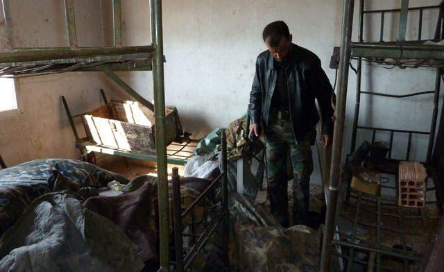 Syrian rebels set up camp on hilltop Base 46