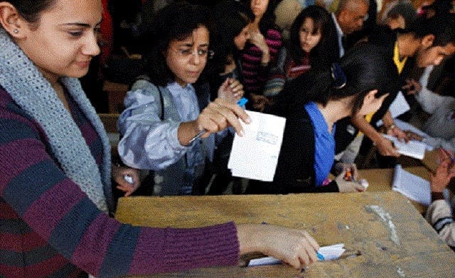 Group of Christian women banned from voting in Egypt's referendum