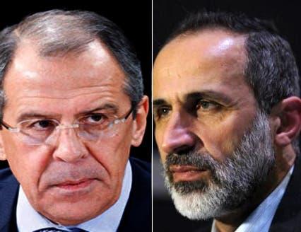 لافروف يدعو  رئيس الائتلاف السوري لزيارة موسكو