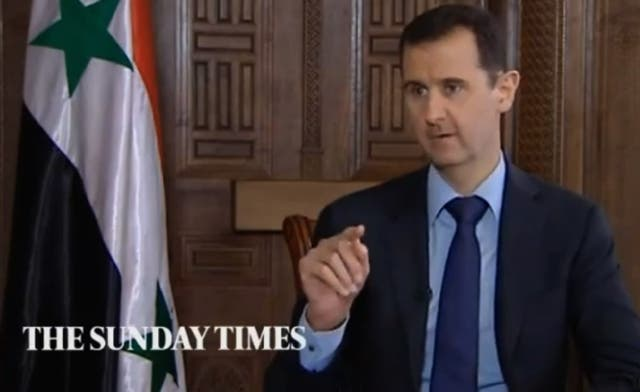 Was Assad given The Sunday Times questions in advance?